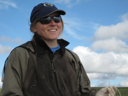Megan Melack spent 10 days at Toolik Field Station this summer helping her mother, Sally MacIntyre, deploy instruments that measure temperature and turbulence in Toolik Lake below the surface.